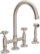 Rohl A1461xmwsstn-2 Kitchen Faucets Satin Nickel