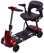 Solax Mobility - Mobie Plus - Folding Travel Scooter - 4-wheel - Red