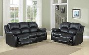 A Ainehome Recliner Sofa Living Room Set Reclining Couch Sofa Loveseat Manual Mo