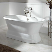 Signature Hardware 907547-60-rr Henley 60 Cast Iron Double-ended Pedestal Tub W
