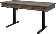 Martin Furniture Complete Sit/stand Desk Weathered Dove