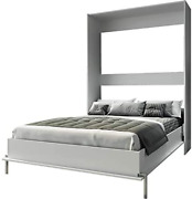 Stellar Home Urban Wall Bed Queen Size In Wood White