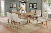 Best Quality Furniture 7 Piece Counter Height Dining Furniture Set Beige