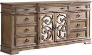 Coaster Home Furnishings Dresser 77.5and039and039 L X 20.78and039and039 W X 40and039and039 H Rustic Pecan