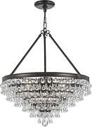 Crystorama 137-vz Crystal Eight Light Chandelier From Calypso Collection In Bron