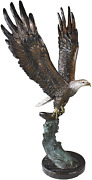 Design Toscano Kw56604 Majestic Eagle Statue 3 Foot Brown Sepia And Green Verd