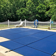 Waterwarden Inground Pool Safety Cover Fits 20andrsquo X 40andrsquo Blue Mesh Right Step Andndash