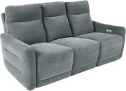 Homelegance Edition 78 Fabric Power Double Lay-flat Reclining Sofa Dove