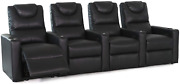 Octane Excel Xs800 Black Bonded Home Theater Seating Set Of 4
