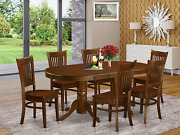 East West Furniture 7 Pc Dining Room Set Table With Leaf And 6 Kitchen Dining Ch