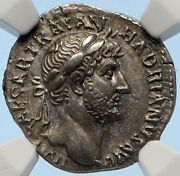 Hadrian Antique Ancient Rome 117ad Antique Vintage Old Roman Coin Victory I95659