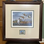 1989 Texas Federal Duck Stamp And Print By David Maass