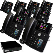 Xblue Qb System Bundle With 8 Ip9g Ip Phones Including Auto Attendant Voicemail