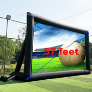 Fitnessandfun 37and039 No Seam Huge Inflatable Projector Movie Screen Outdoor - Front