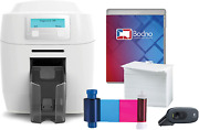 Magicard 300 Dual Sided Id Card Printer And Complete Supplies Package With Bodno I