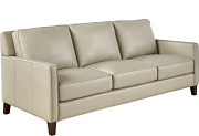 Hydeline Ashby 100 Leather Sofa Couch 85.5 Ice