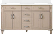 Martha Stewart Thornfield 60 Vanity From Lily Pond Collection In White Washed M