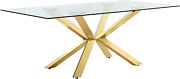 Meridian Furniture Capri Collection Modern Rectangular Dining Room Table With Ri