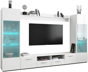 Meble Furniture And Rugs Modica Modern 102 Wide Entertainment Center Wall Unit Wi