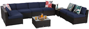 Sophia And William Outdoor Sectional Furniture 9 Piece Patio Sofa Set Low-back Rat