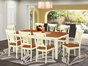 9 Pc Dining Room Set -dining Table And 8 Dining Chairs