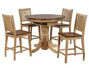 Sunset Trading Brook Pub Table Set Two Tone Wheat And Pecan