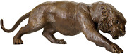 Design Toscano As2733 Prowling Tiger Statue 41 Inch Brown Sepia