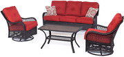 Hanover Orleans4pcsw-b-bry Orleans Autumn Berry Outdoor 4 Piece All-weather Pat