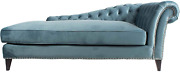 Moeand039s Home Collection Bibiano Velvet Chaise Lounge Blue