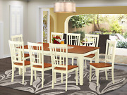 East West Furniture 9 Pc Dining Room Set For 8- Table And 8 Dinette Chairs