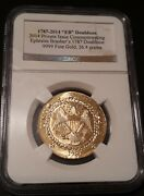 1787-2014 Eb Brasher Doubloon .9999 Fine Gold, 26.4 Grams Pure