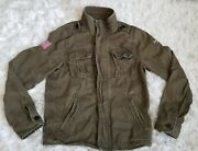 Abercrombie And Fitch Aandf Size Medium Womenand039s Light Green Jacket Military Style