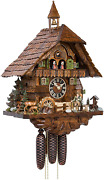 Handoumlnes Cuckoo Clock Black Forest House With Forest Scene And Moving Hunter And Tu