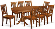 East West Furniture Plai9-sbr-w 9 Pc Dining Room Set For 8-dining Table And 8 Di