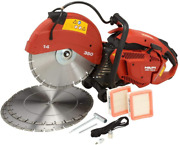 Dsh 700-x 70cc 14 In. Hand Held Gas Saw With 3 14 In. Premium Diamond Blades