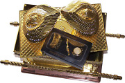 Holy Land Market The Ark Of The Covenant Gold Plated Extra Large, Ark And Conte