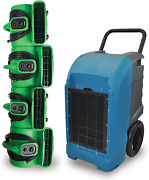 Xpower Water Damage Cleanup And Restoration Diy Combo W/commercial Grade Dehumidif
