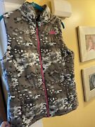 The Addyson Poly Quilted Vest Green Neon Pink Camoflauge Vest Sz Lg