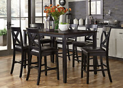 Liberty Furniture Industries Black Finish With Brown Top Thornton Ii Dining 7-pi