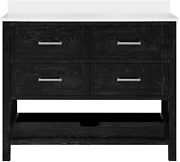 Martha Stewart Hillcrest 42 Vanity From Perry St. Collection In Black Cerused H