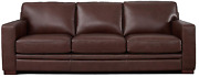 Hydeline Dillon 100 Leather Sofa Couch 96 Brown