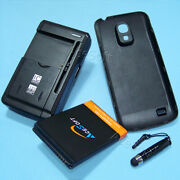 6300mah Extended Battery Cover Charger Stylus F Samsung Galaxy S4 Mini Sm-s890l