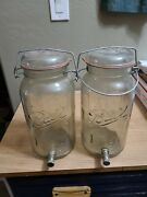 2 Gallon Ball Ideal Glass Jar With One Star Eagle And Glass Lid With Wire Clip