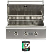 Coyote 34 C-series Built-in 3-burner Natural Gas Outdoor Grill W/ Warranty Kit