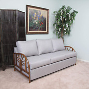 Made In Usa Rattan Living Room Queen Sofa Sleeper Bed Choice Of Fabrics 9021