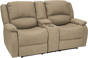 Recpro Charles Collection | 67 Double Recliner Rv Sofa | Rv Zero Wall Loveseat