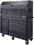 56 In. 23-drawer Tool Chest And Rolling Cabinet Set Textured Black Matte