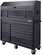 56 In. 23-drawer Tool Chest And Rolling Cabinet Set 18 Ga. Steel 22 In. D Textu