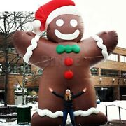 20ft Giant Inflatable Christmas Gingerbread Man Outdoor Decor Custom W/ Blower