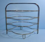 Antique Metal 4 Tier Pie Plate Cooling Rack Wire Stand Hot Pie Holder Tool Aafa